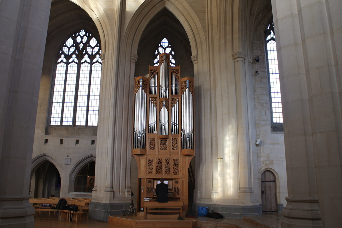 Robert Smith playing the Tickell organ at Douai Abbey