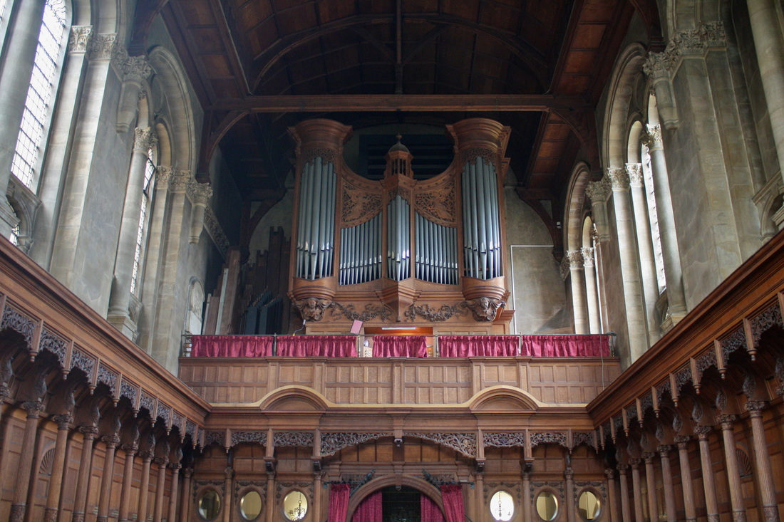 The 1930 Hunter organ at Hertford College Chapel